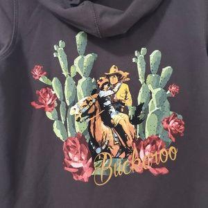 Rodeo Quincy Cactus Buckaroo Hoodie Size M…